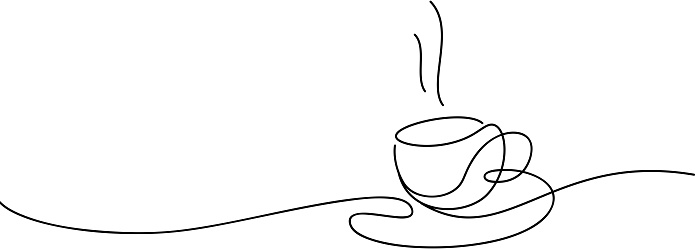 coffee cup line art