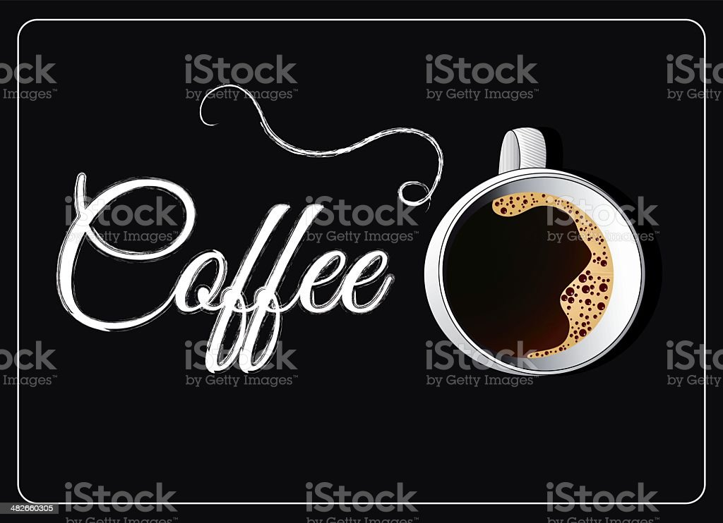 coffee cup on blackboard background royalty-free stock vector art