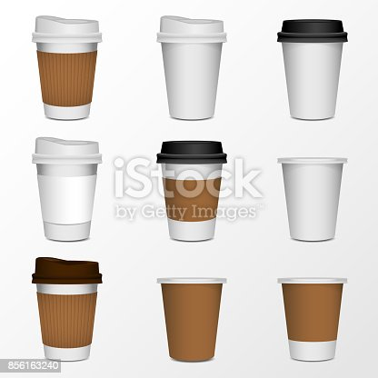 coffee cup product mock up, isolate on white