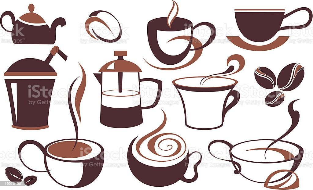 Coffee cup set royalty-free coffee cup set stock vector art & more images of cafe