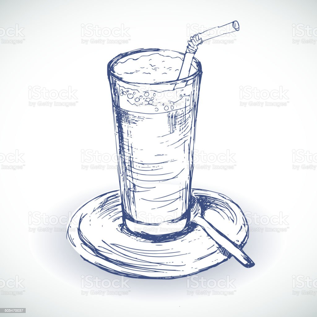 Coffee cup sketch - Coffee Cup Sketch Illustration Royalty Free Stock Vector Art