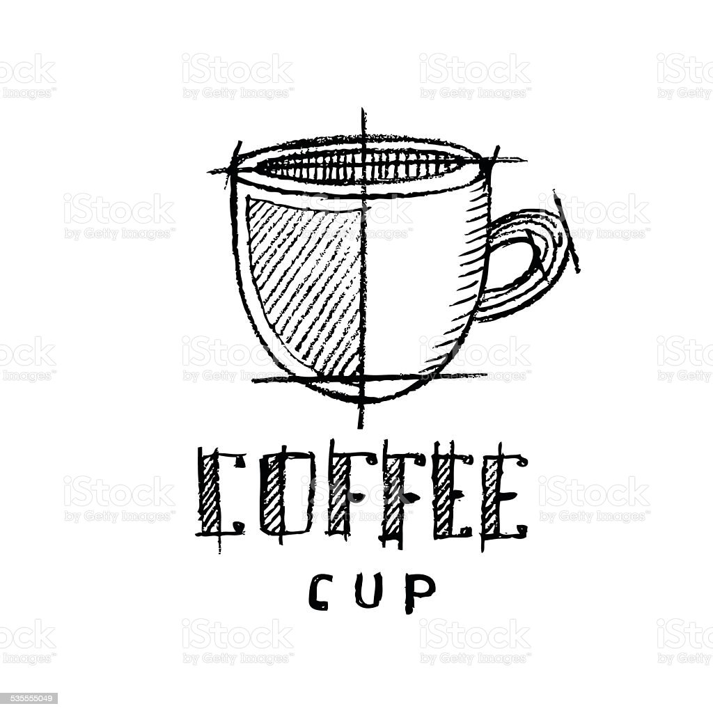 Coffee cup sketch - Coffee Cup Sketch Royalty Free Stock Vector Art