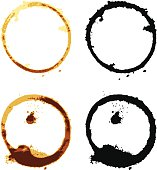 vector file of coffee cup stains