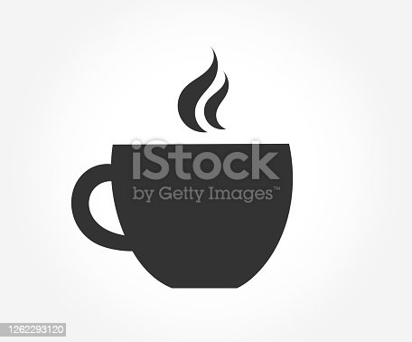 istock Coffee cup symbol icon. 1262293120