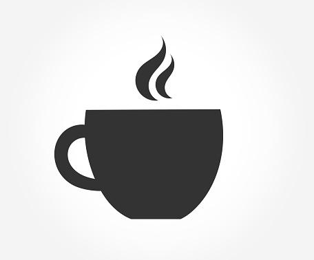 Coffee cup symbol icon.