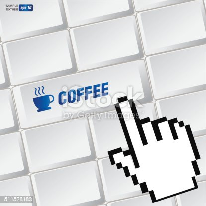 Coffee Cup Symbol On Keyboardvector Stock Vector Art More Images
