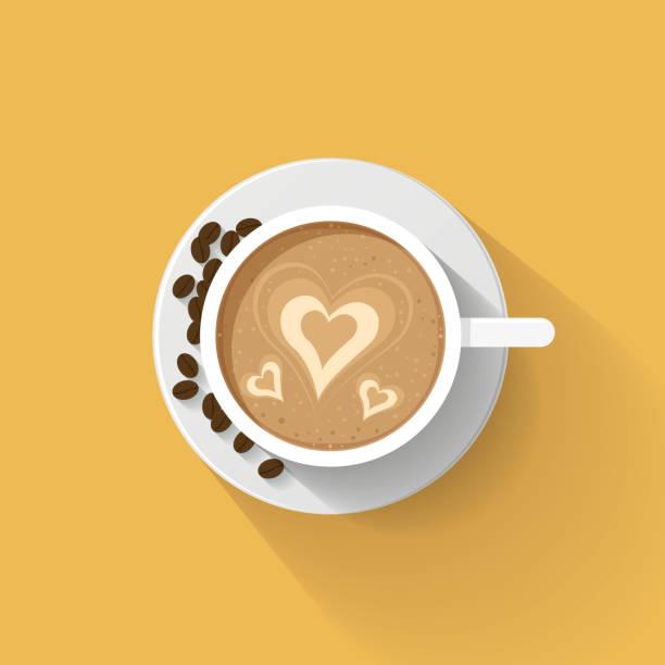 Latte Art Heart Illustrations, Royalty-Free Vector Graphics & Clip Art - iStock