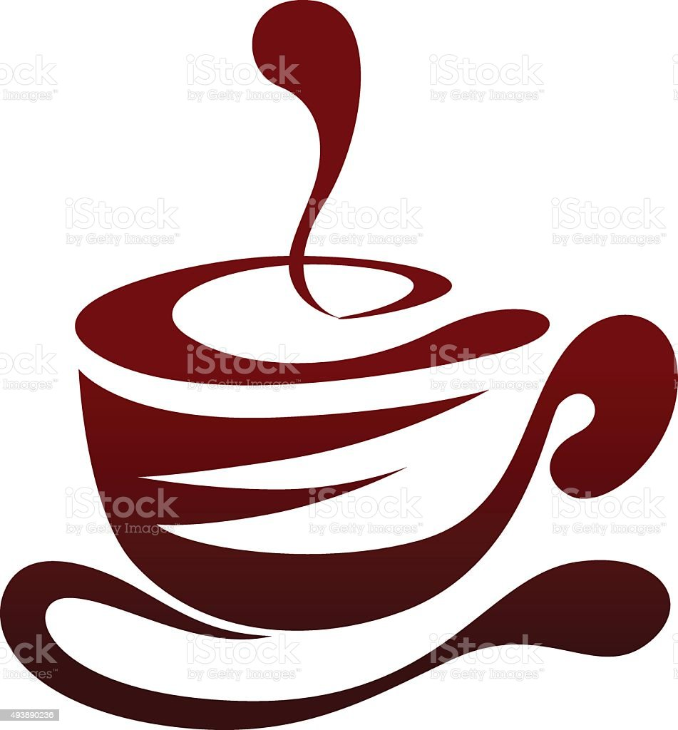 coffee cup vector design line art. vector art illustration
