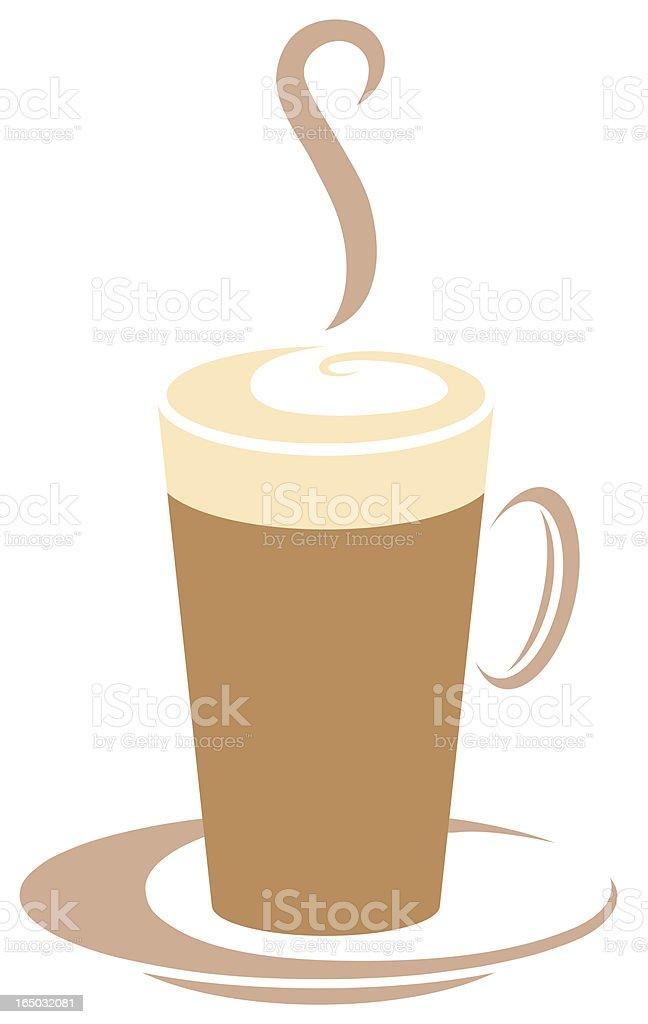 Coffee cup vector graphic logo royalty-free stock vector art