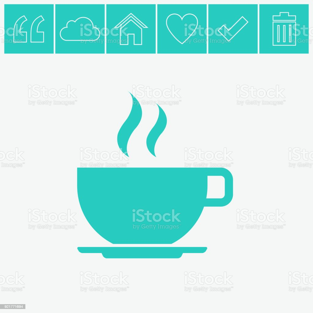 Coffee cup vector icon. royalty-free coffee cup vector icon stock illustration - download image now