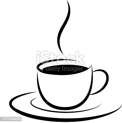 coffee cup hot drink design element