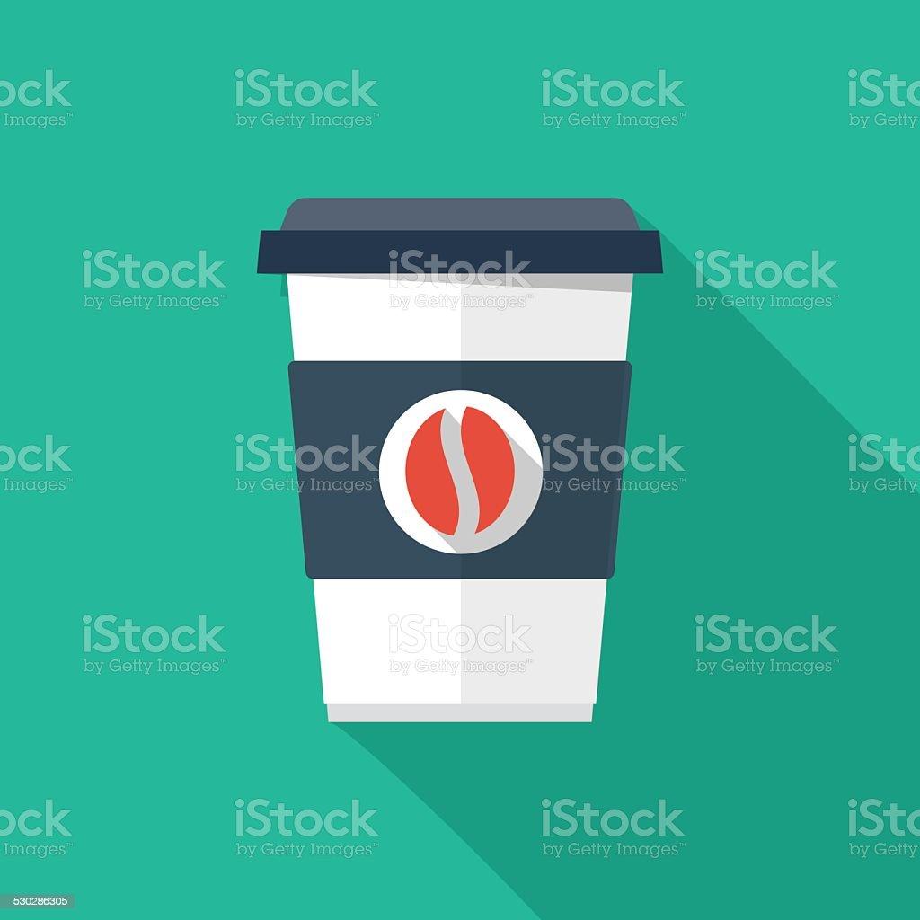 Coffee cup vector art illustration