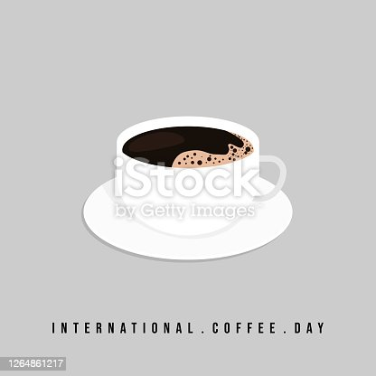 Coffee cup vector illustration. Perfect template for International Coffee Day design