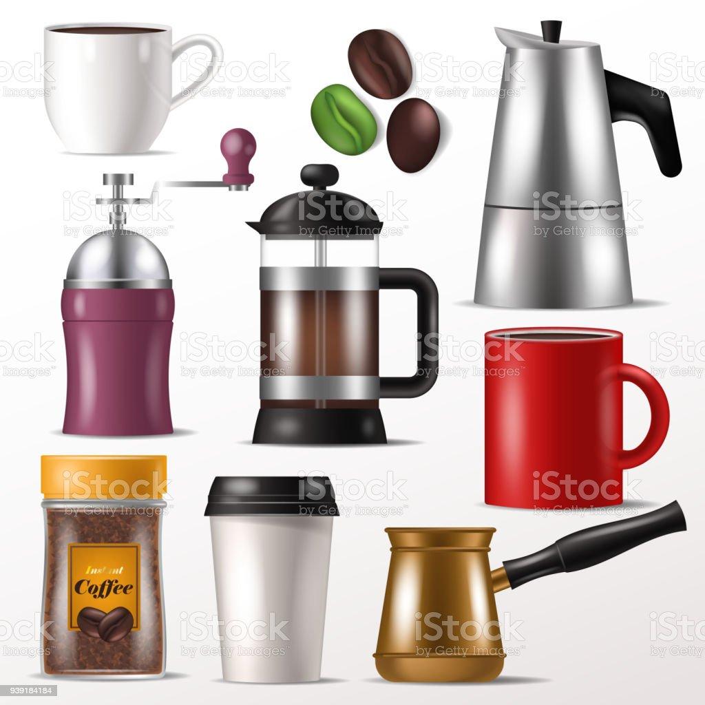 Kaffeebecher Tasse Vektor Für Heißen Espresso Und Getränke Mit ...