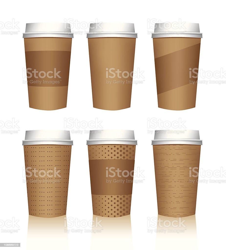 Coffee cup vector templates royalty-free stock vector art
