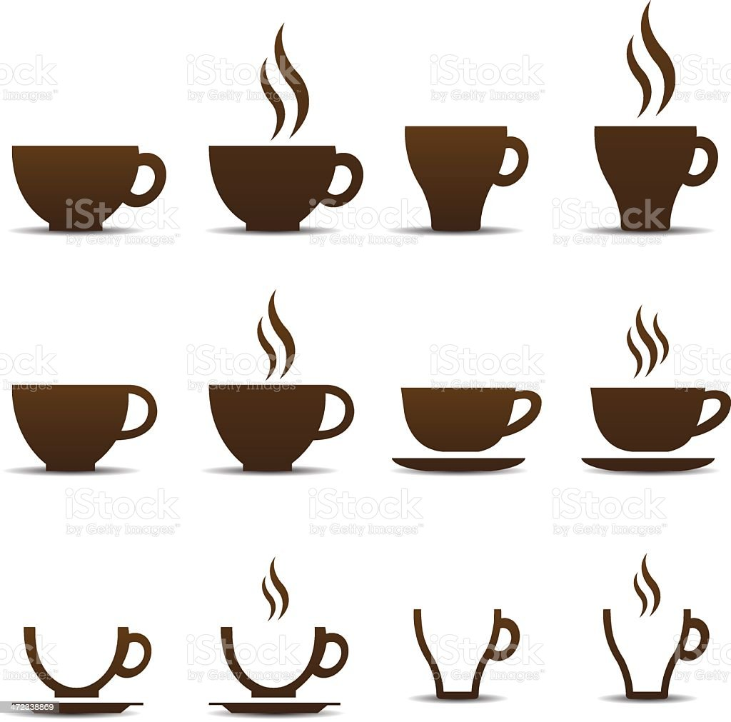 coffee cup vector stock vector art more images of black color rh istockphoto com coffee cup vector graphic coffee cup vector black and white