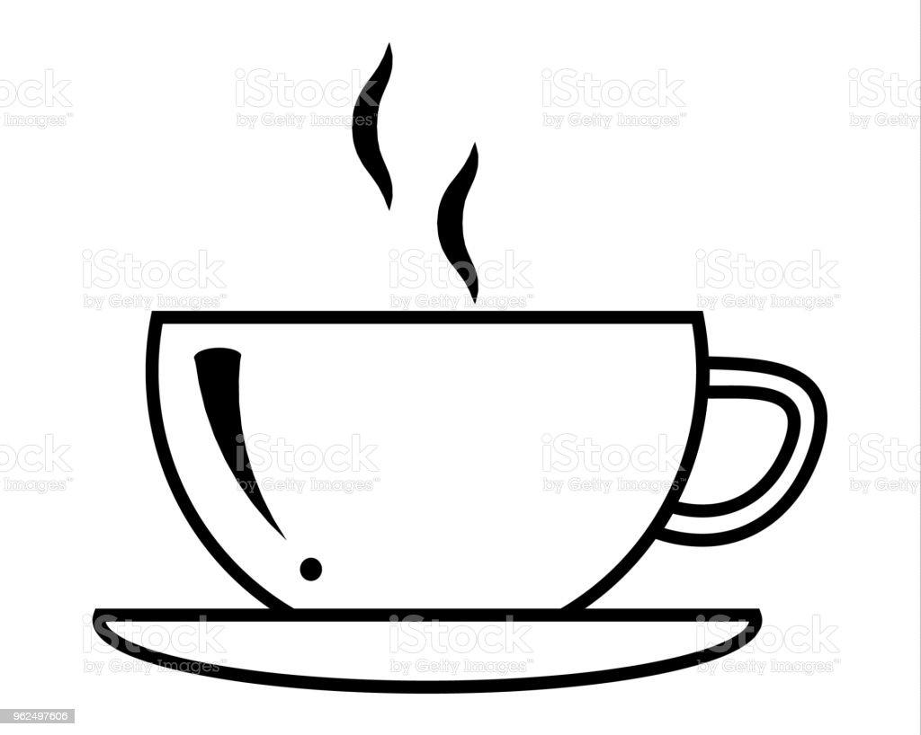 Xícara de café em vetor - Vetor de Bebida royalty-free