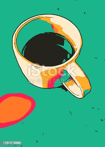 Coffee cup vibrant colors