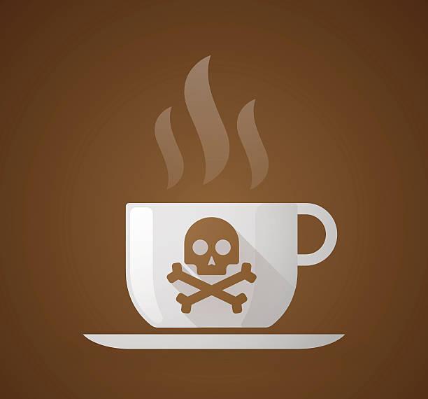 bildbanksillustrationer, clip art samt tecknat material och ikoner med coffee cup with a skull - coffe with death