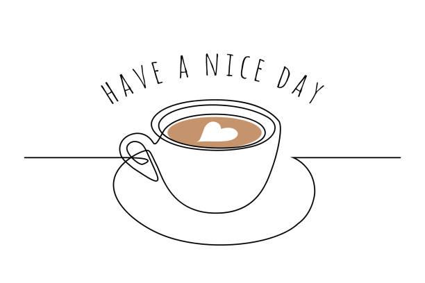ilustrações de stock, clip art, desenhos animados e ícones de coffee cup with wishes - coffe shop