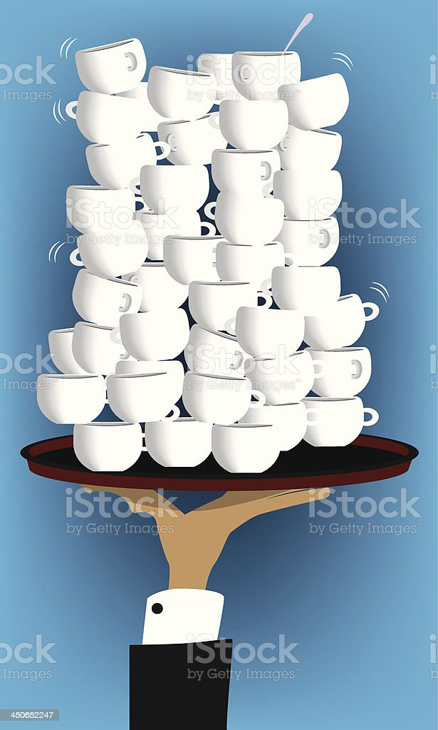 Coffee cups on a tray royalty-free coffee cups on a tray stock vector art & more images of anniversary
