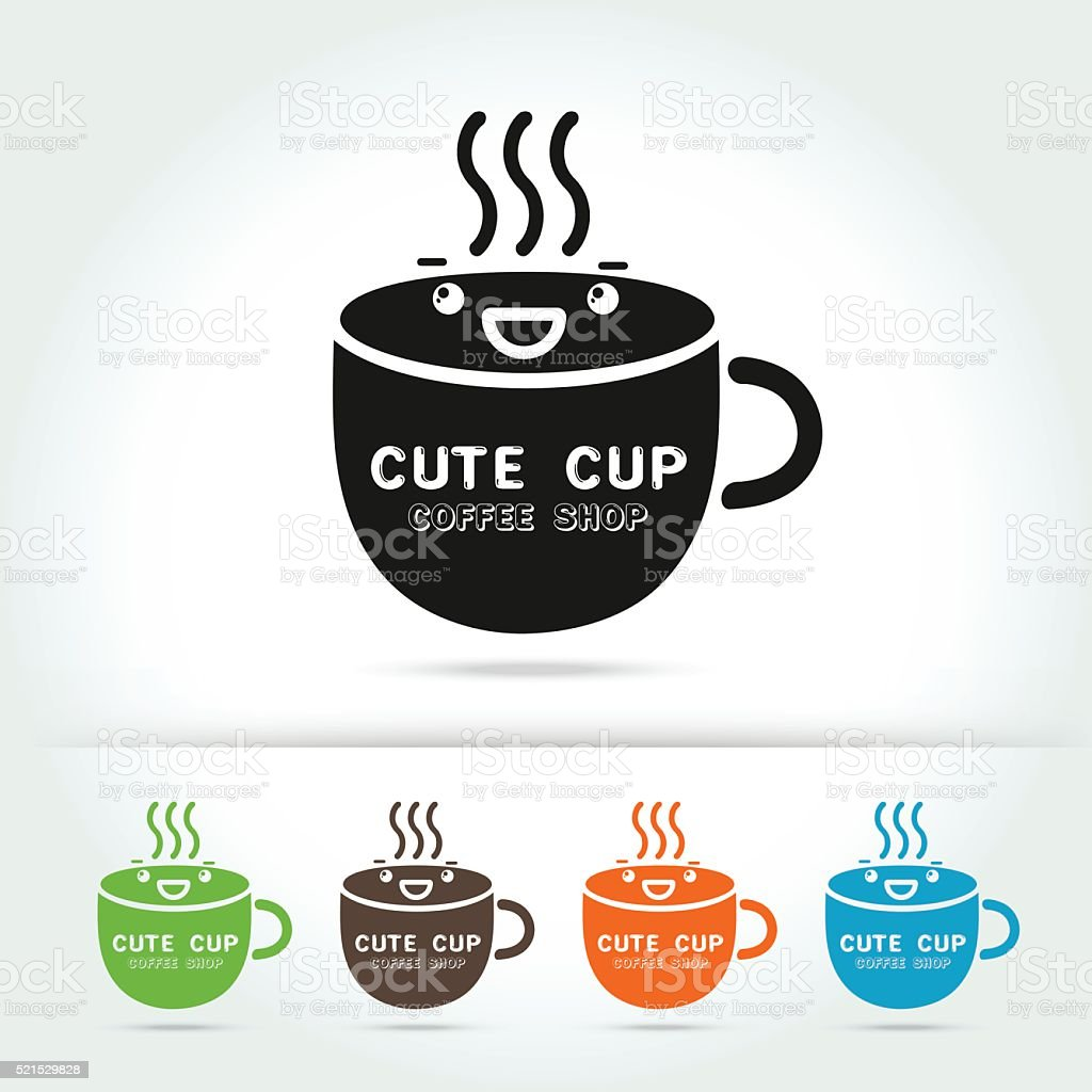Coffee Cute Cup Logo Vector Stock Illustration Download Image Now Istock