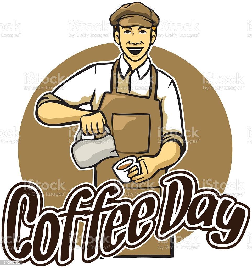Coffee Day Greeting - ilustración de arte vectorial