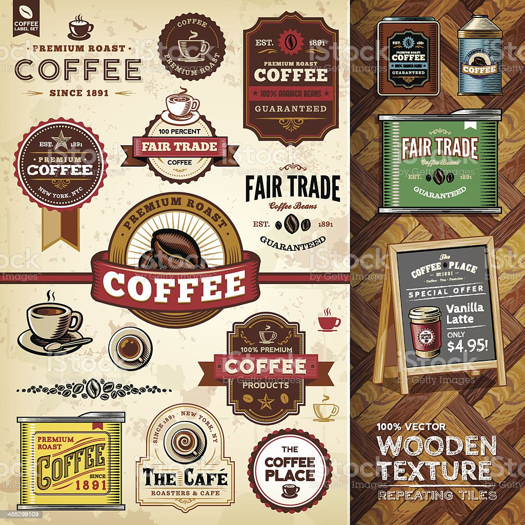 Coffee Design Elements royalty-free stock vector art