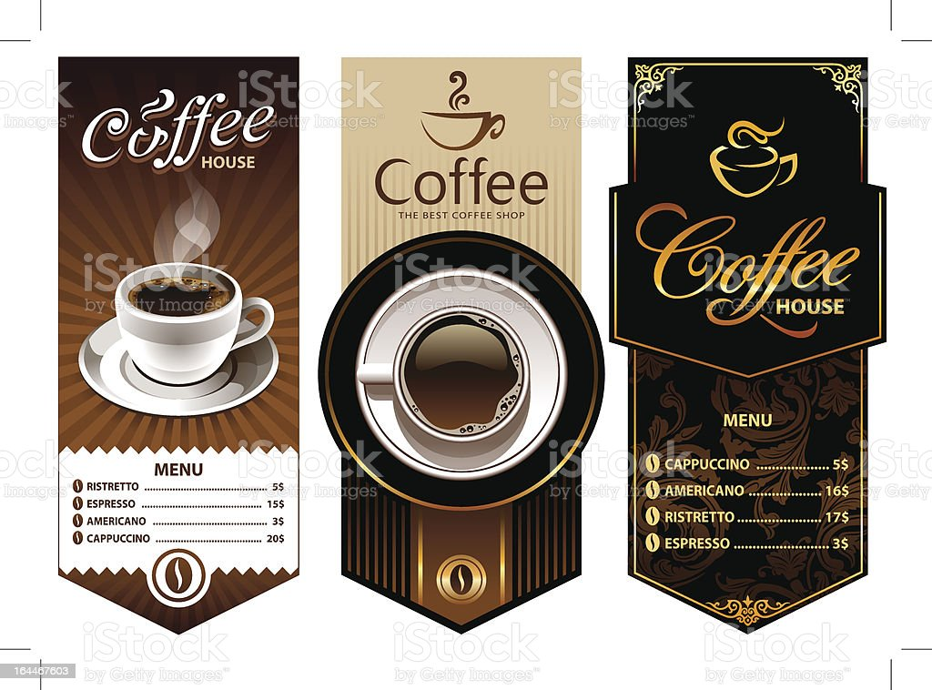 Coffee design templates vector art illustration