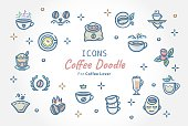 Coffee Doodle Icon Banner design