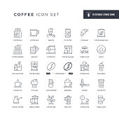 29 Coffee Icons - Editable Stroke - Easy to edit and customize - You can easily customize the stroke with
