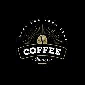 Coffee emblem black