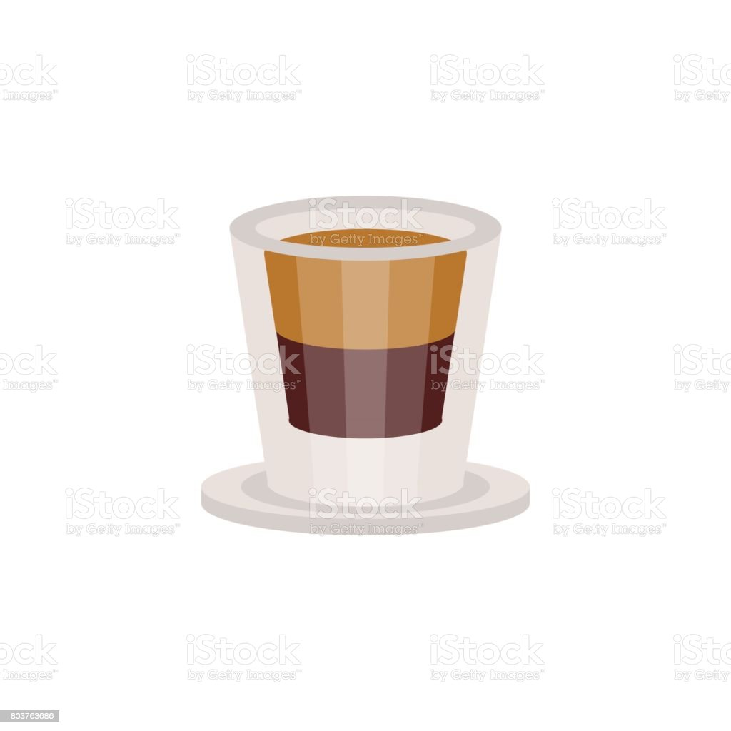 Kaffee Espresso In Einem Glas Tasse Vektor Illustration Stock Vektor