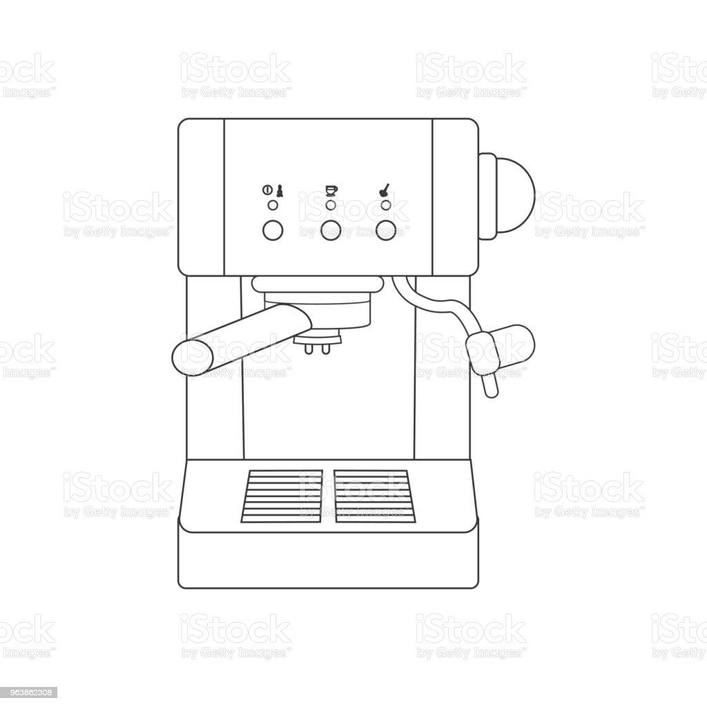 Coffee espresso machine path - Royalty-free Alcohol stock vector