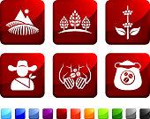 Coffee Farm vector icon set
