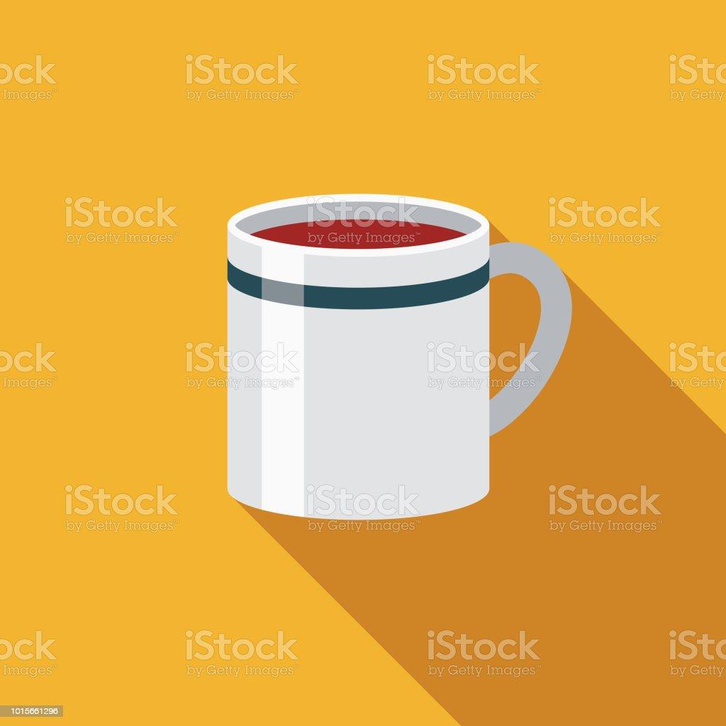 Coffee Flat Design Breakfast Icon vector art illustration