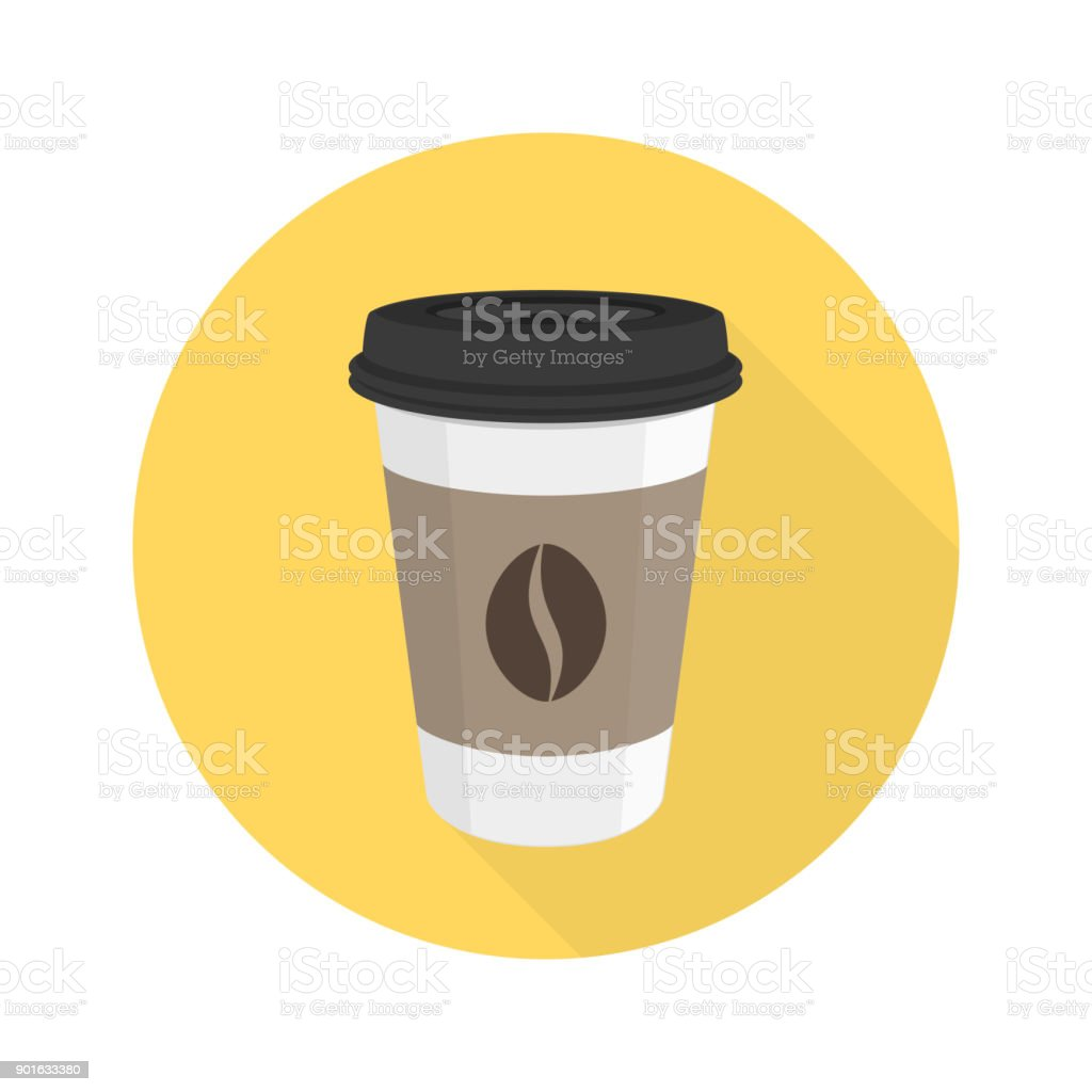 Coffee flat vector icon. royalty-free coffee flat vector icon stock illustration - download image now