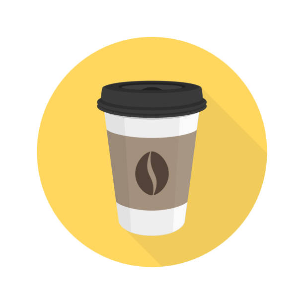 coffee flat vector icon. - junk food stock illustrations, clip art, cartoons, & icons