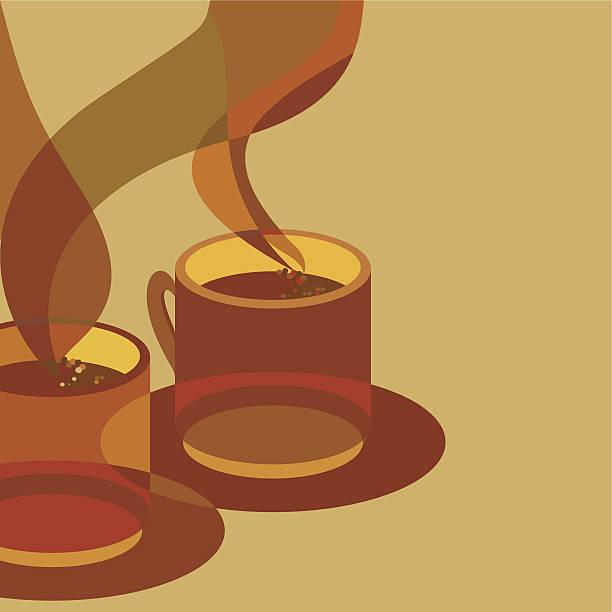 ilustraciones, imágenes clip art, dibujos animados e iconos de stock de cafetera para dos - tintanegra00