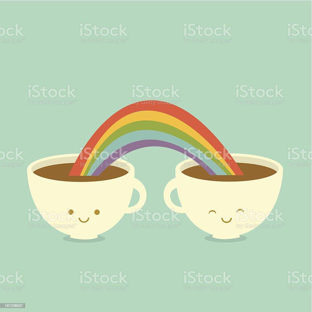 Caffè gli amici - arte vettoriale royalty-free di Allegro