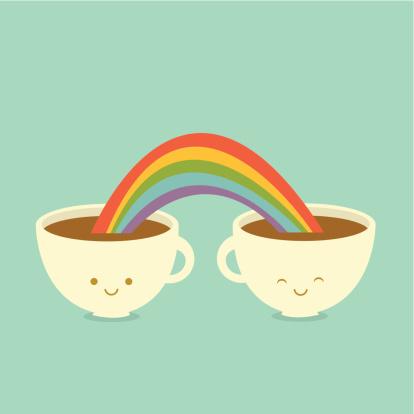 Caffè Gli Amici - Immagini vettoriali stock e altre immagini di Allegro