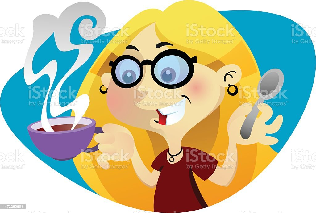 Coffee Girl royalty-free coffee girl stock vector art & more images of caffeine