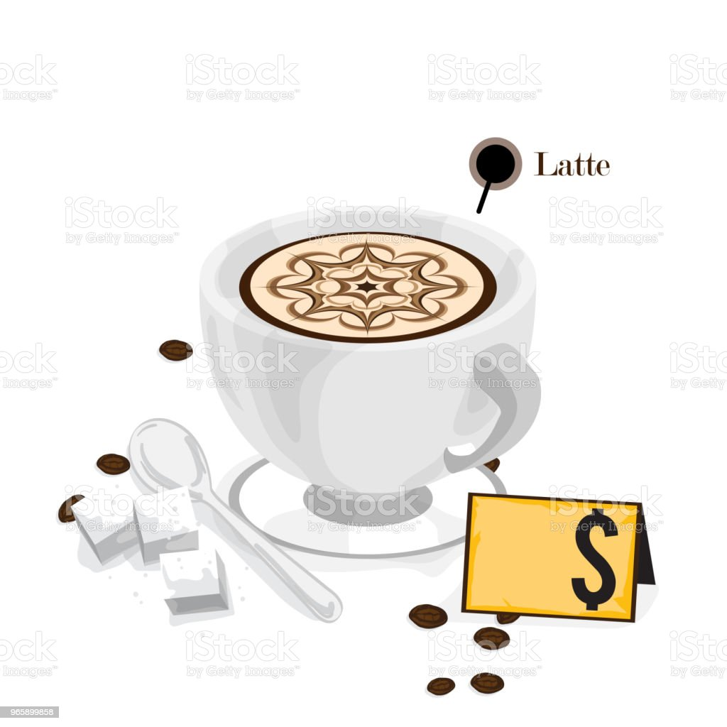 coffee graphic drawing hot drink object - Royalty-free Bar - Local de entretenimento arte vetorial