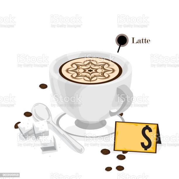 Coffee Graphic Drawing Hot Drink Object - Arte vetorial de stock e mais imagens de Bar - Local de entretenimento