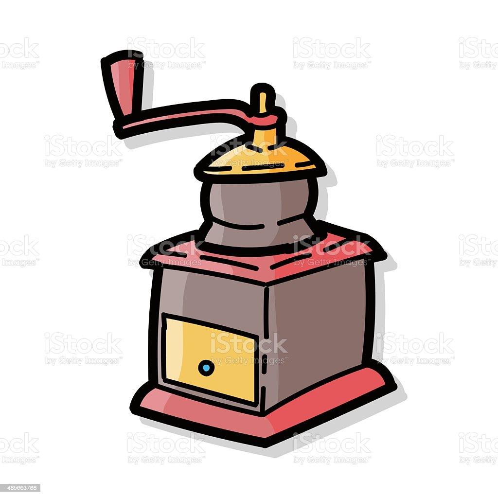 Ilustración de Moler Máquina De Café Color Garabato y más banco de ...