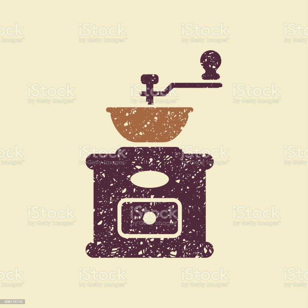 Coffee grinder icon. vector art illustration