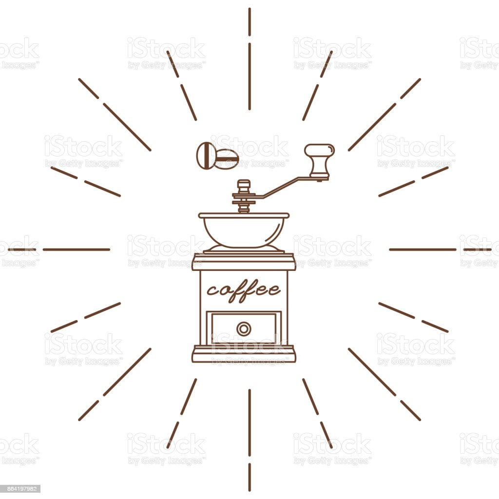 Coffee grinder. Modern linear style. Vector illustration. royalty-free coffee grinder modern linear style vector illustration stock vector art & more images of art