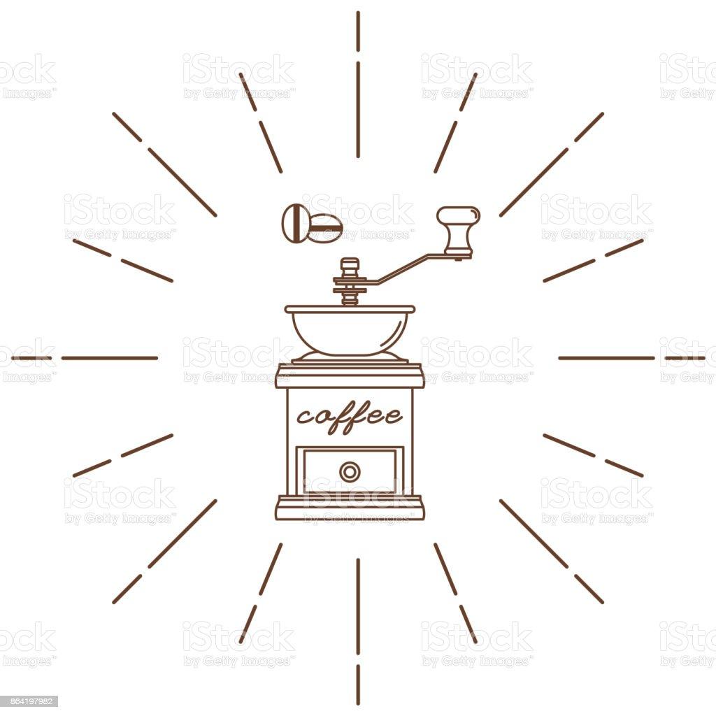 Moedor de café. Estilo moderno e linear. Ilustração em vetor. - ilustração de arte em vetor