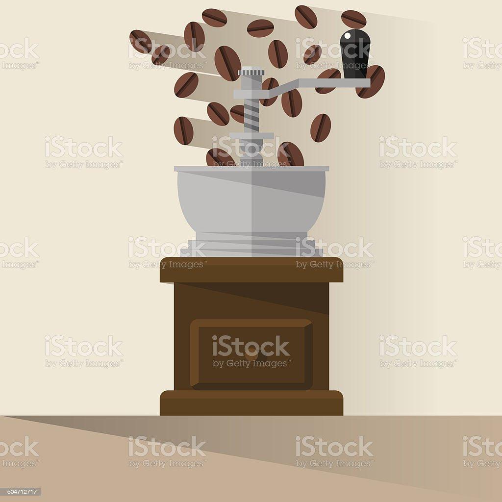 Coffee Grinder vector art illustration