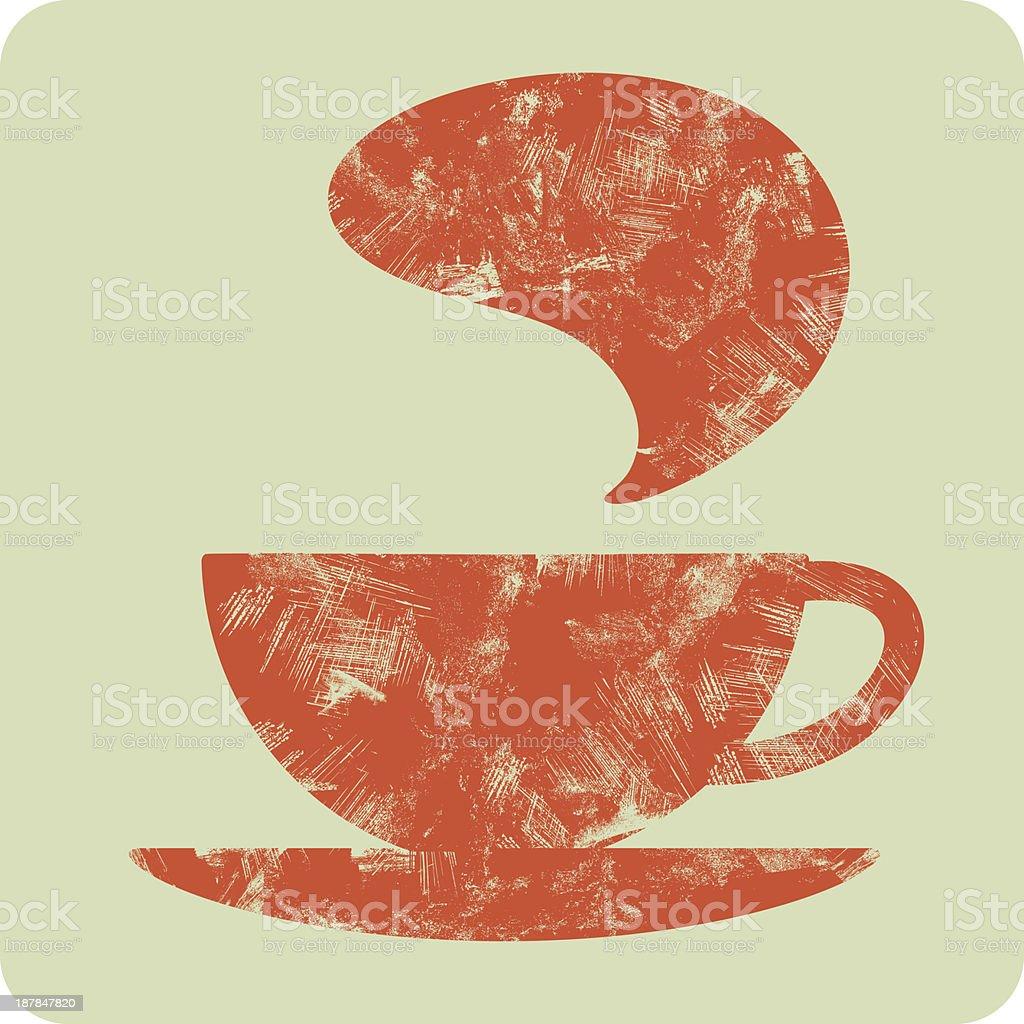 coffee (tea) grunge cup - vector icon royalty-free stock vector art